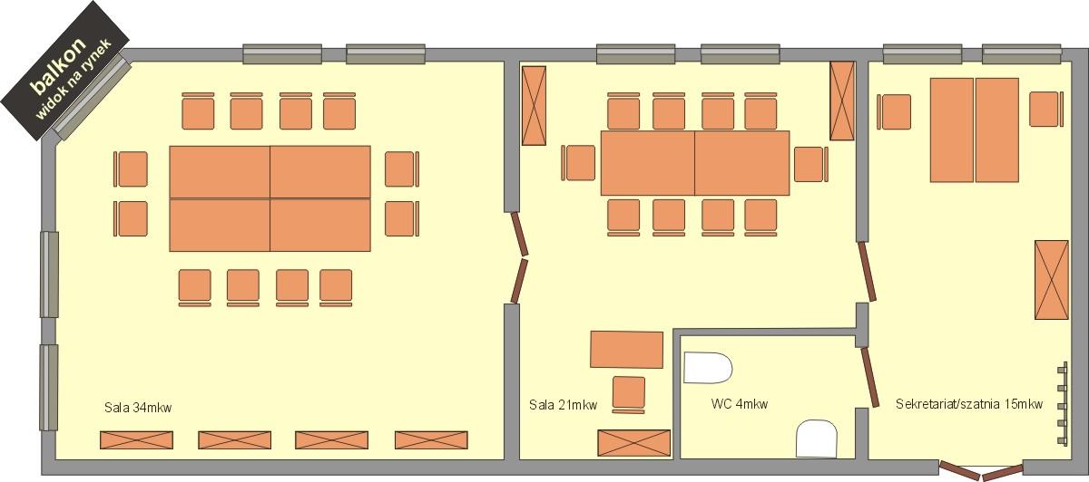 Sala konferencyjna Schemat