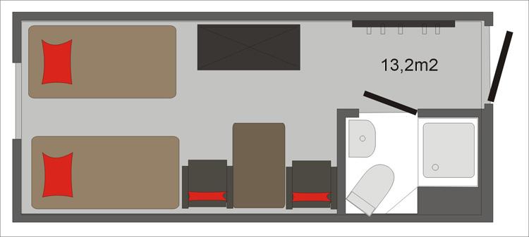 Pokój Ritz  Schemat